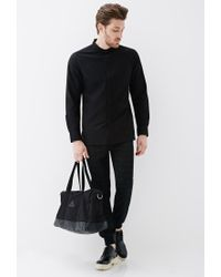 Forever 21 - Black Geo-patterned Drawstring Joggers for Men - Lyst