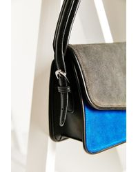 Silence + Noise   Blue Suede Shoulder Bag   Lyst