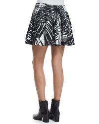 Marc Jacobs - Black Palm-print Poplin Wide-leg Shorts - Lyst