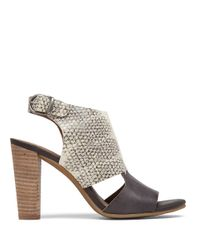Lucky Brand | White Otta High-heel Leather Sandals | Lyst