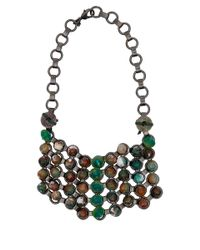 DANNIJO | Green Beaded Asher Bib Necklace | Lyst