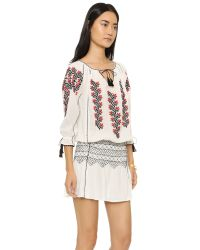 Ulla Johnson | Natural Samira Embroidered Dress | Lyst