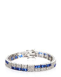 CZ by Kenneth Jay Lane | Silver-Tone & Blue Accented Bracelet | Lyst