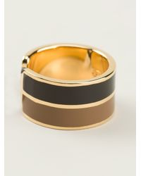 Fendi - Black Patterned Ring - Lyst