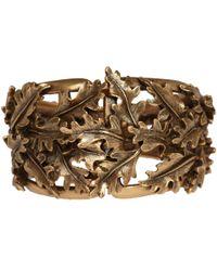 Oscar de la Renta - Metallic Goldtone Oak Leaf Cuff Bracelet - Lyst