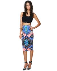 Nasty Gal | Multicolor Scope Out Midi Skirt | Lyst