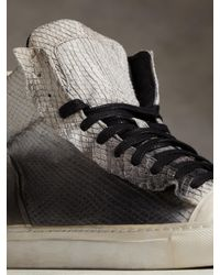 John Varvatos - Black 315 Raw Edge Sneaker for Men - Lyst