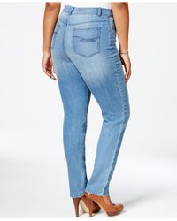 Style & Co. - Metallic Plus Size Tummy-control Slim-leg Jeans, Only At Macy's - Lyst