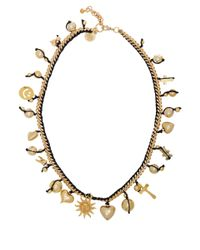 Venessa Arizaga - Metallic Goldplated Lolita Charm Necklace - Lyst