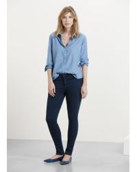 Violeta by Mango | Blue Super Slim-fit Anabel Jeans | Lyst