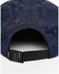 Herschel Supply Co. | Blue Glendale Classic Quilted 5 Panel Cap for Men | Lyst