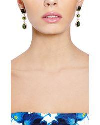 Dana Rebecca | Green Tourmaline and Diamonds Earrings in Yellow Gold | Lyst