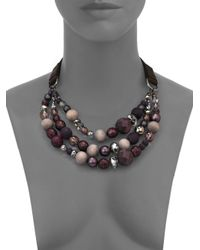 Peserico - Purple Beaded Necklace for Men - Lyst
