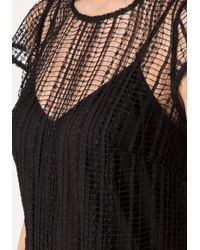 Bebe | Black Noami Macrame Lace Dress | Lyst