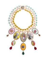 Bijoux De Famille | Multicolor Madame Funky Dollar Chandelier Necklace | Lyst