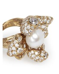 Anabela Chan - Metallic 'Mini Blossom' Pearl Diamond 18K Yellow Gold Flower Ring - Lyst