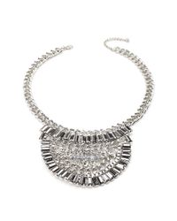 Forever 21 | Metallic Half Circle Statement Necklace | Lyst