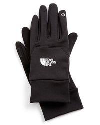 The North Face - Black 'etip' Gloves for Men - Lyst