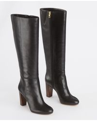 Ann Taylor - Black Extended Calf Ellen Leather Riding Boots - Lyst