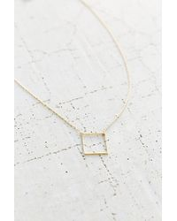 Urban Outfitters | Metallic Open Square High/low Necklace | Lyst