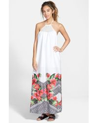 Rip Curl | White 'spanish Garden' Maxi Dress | Lyst
