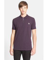 Paul Smith - Purple Cotton Pique Polo for Men - Lyst