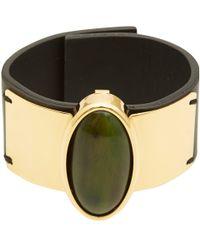 Marni - Green Horn Detail Leather Bracelet - Lyst