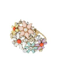 TOPSHOP - Multicolor Flower and Insect Stone Bracelet - Lyst