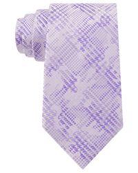 Sean John - Purple Houndsooth Plaid Tie for Men - Lyst