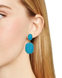kate spade new york | Metallic Pave The Way Drop Earrings | Lyst