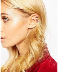ASOS | Metallic Marbled Stone Ear Cuff Pack | Lyst