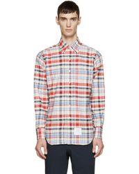 Thom Browne - Multicolor Plaid Shirt for Men - Lyst