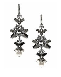 Marchesa - Metallic Jeweled Chandelier Earrings - Lyst