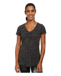 Alo Yoga | Black Deep V-neck Shirt | Lyst