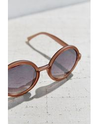 Urban Outfitters - Gray Liquid Matte Perfect Round Sunglasses - Lyst