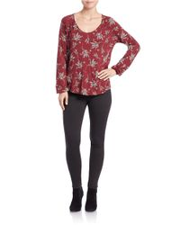 Free People | Red Elsa Blouse | Lyst