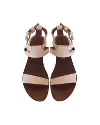 See By Chloé - Natural Alabastro Leather Sandal - Lyst