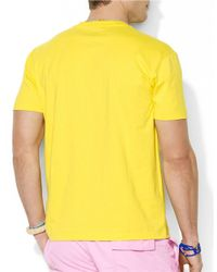 Polo Ralph Lauren | Yellow Classic-Fit Short-Sleeved Cotton Jersey Pocket Crewneck for Men | Lyst