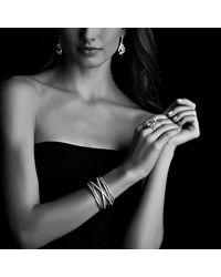 David Yurman - Cable Wrap Ring With Black Onyx And Diamonds - Lyst