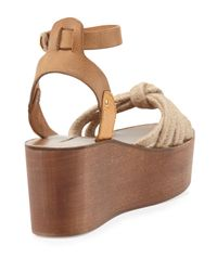Isabel Marant - Natural Zia Leather and Rope Sandals - Lyst