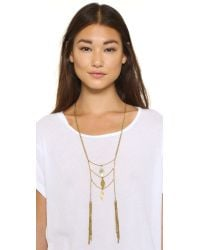 Vanessa Mooney - Metallic Light My Fuse Necklace - Gold - Lyst