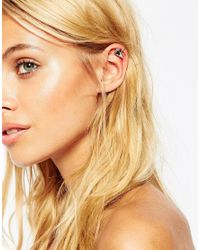 ASOS | Multicolor 70s Teardrop Stone Ear Cuff | Lyst