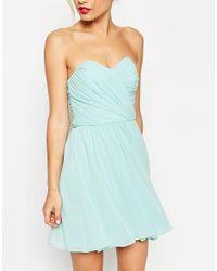 ASOS - Black Wedding Bandeau Mini Dress - Lyst