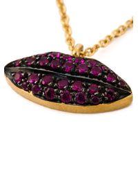 Delfina Delettrez | Purple 'lips Piercing' Chain Necklace | Lyst