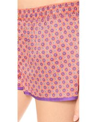Juicy Couture - Pink Printed Sateen Pj Shorts July Marrakech - Lyst