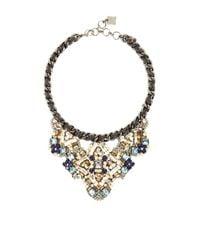 BCBGMAXAZRIA | Blue Stone Applique Chain Necklace | Lyst