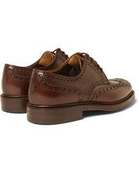 Richard James - Brown Full-Grain Leather Brogues for Men - Lyst