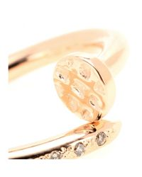 Roberto Marroni - Red 18kt Gold Big Nail Ring With Diamonds - Lyst