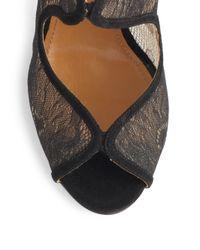 Aquazzura - Black Eagle Lace Ankle Boots - Lyst