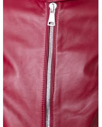 Dolce & Gabbana - Pink Band-Collar Leather Jacket - Lyst
